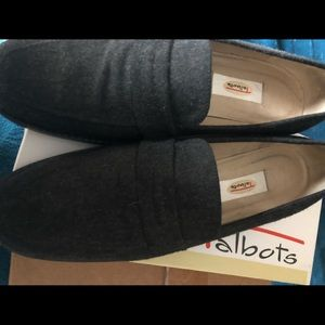 Talbots Grey Flannel Loafers. Like new